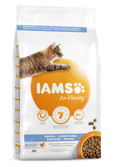 IAMS for Vitality Dental kattenvoer met verse kip