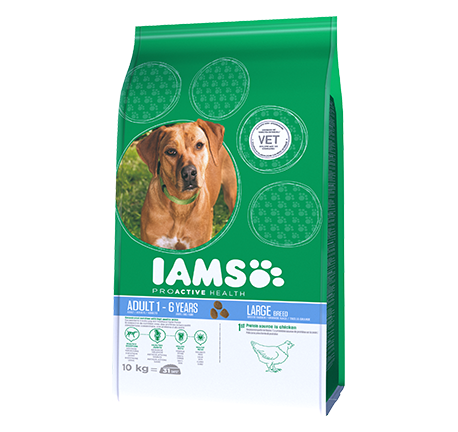 Iams® PROACTIVE HEALTH Adult Large breed Rijk aan Kip