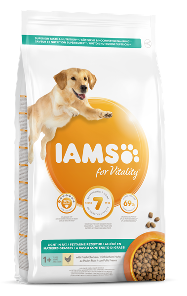 IAMS for Vitality Light in Fat hondenvoer